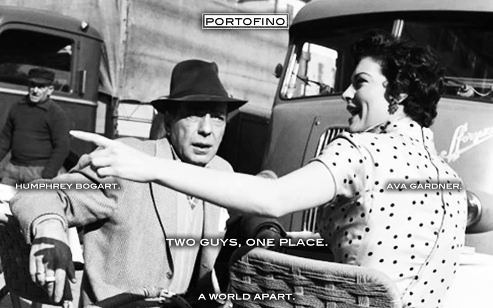 Humphrey Bogart and Ava Gardner in Portofino