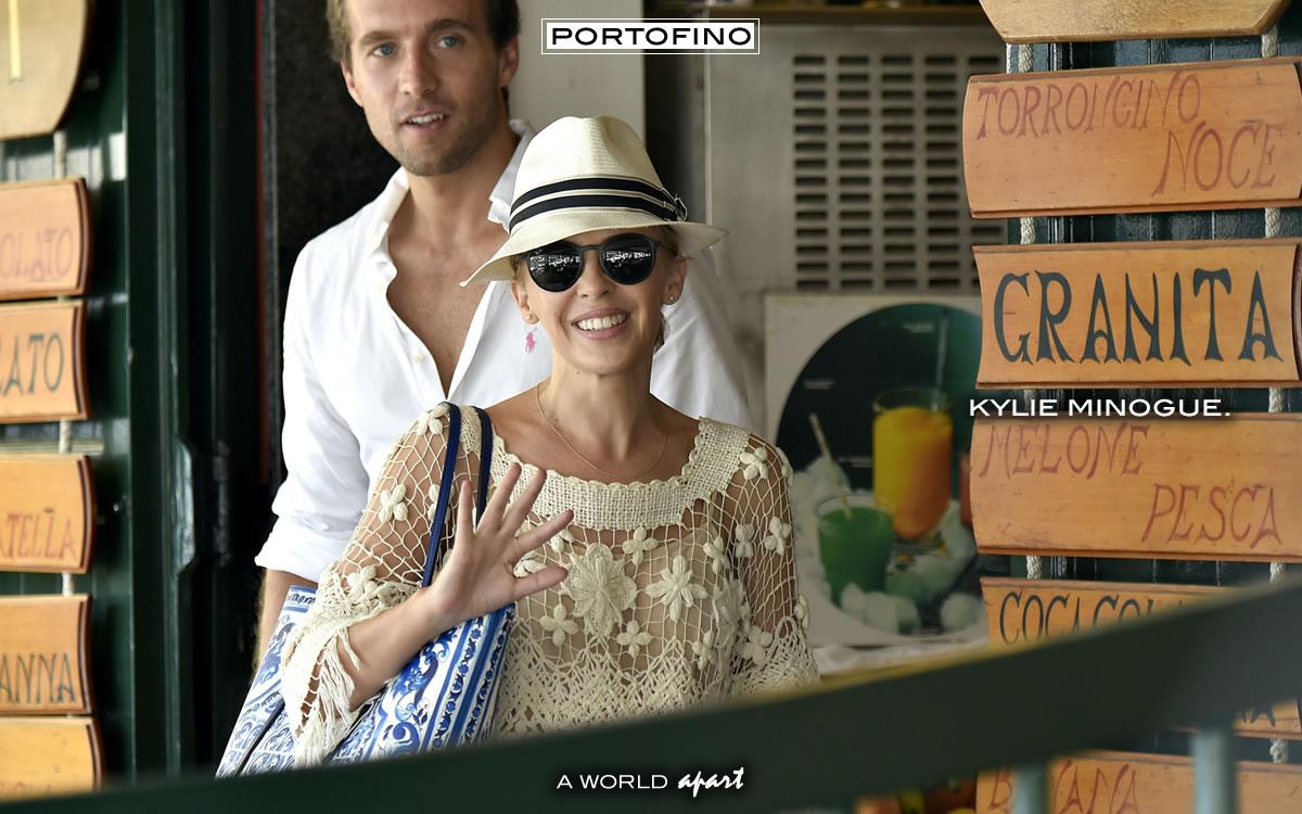 Portofino Kylie Minogue in Calata Marconi