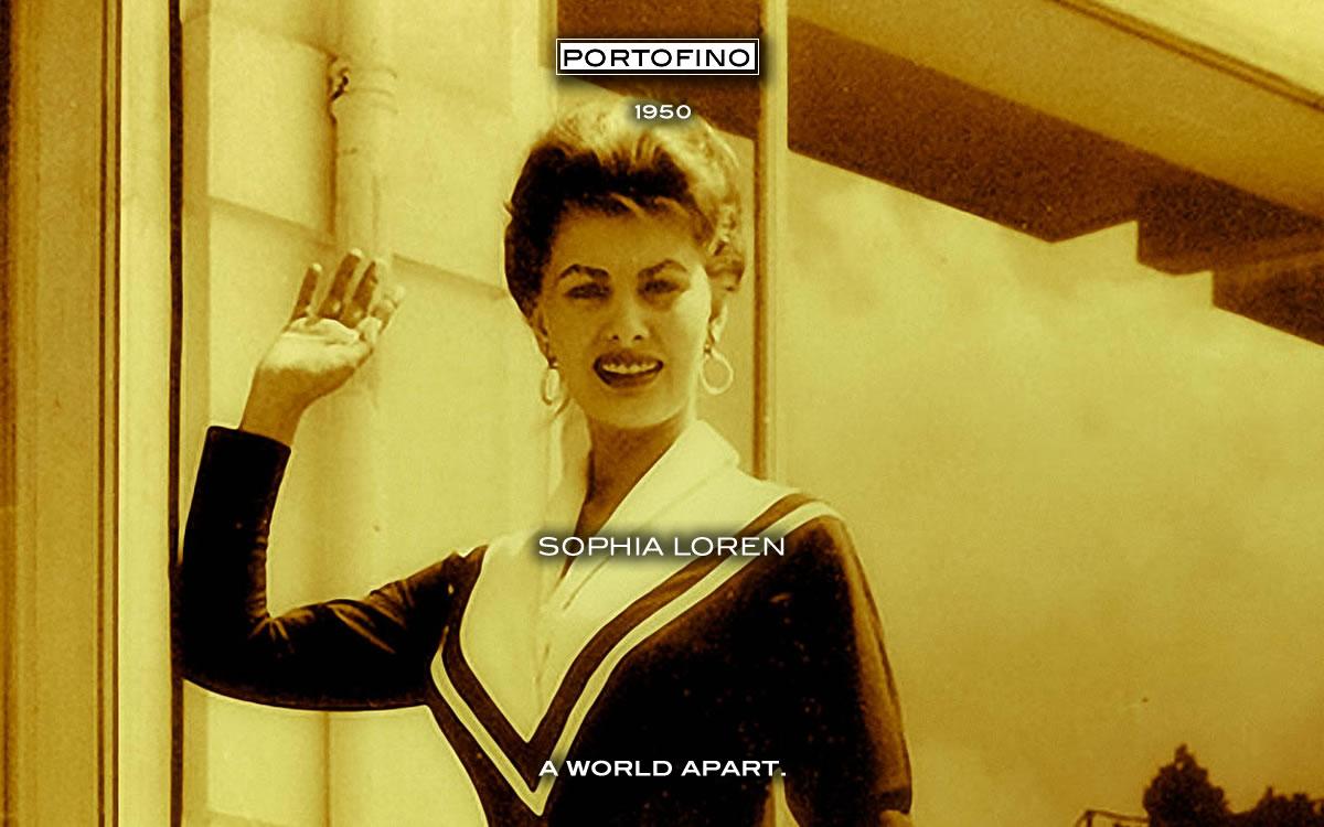 SOPHIA LOREN IN PORTOFINO (1950)
