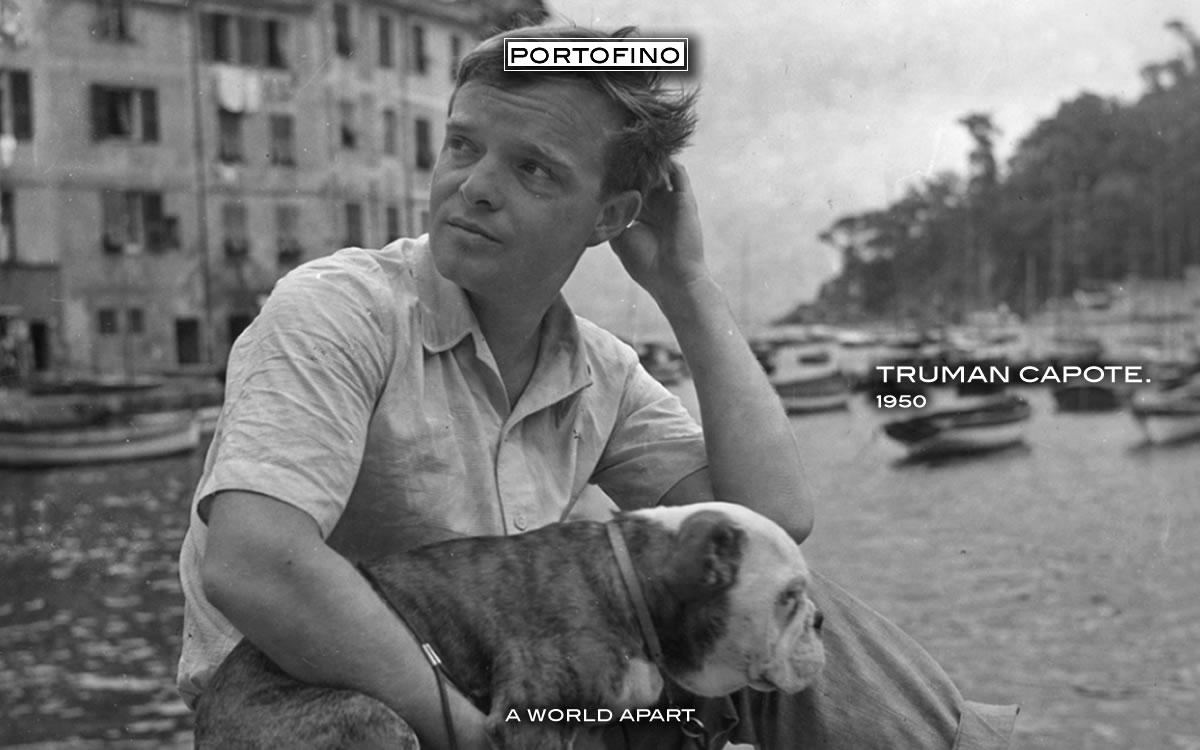 The write Truman Capote in Portofino
