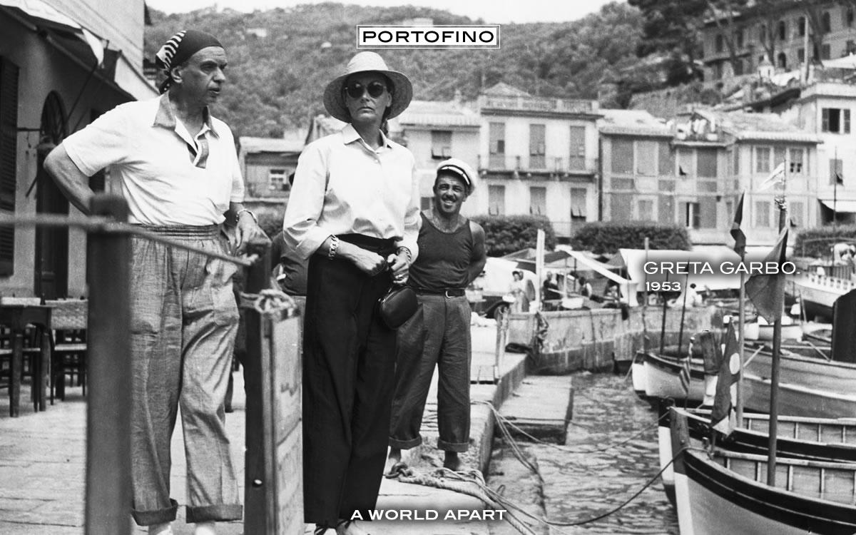 Greta Garbo in Portofino