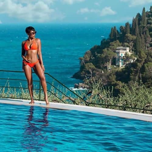 The Heated Saltwater Pool at the Splendido Portofino Italy