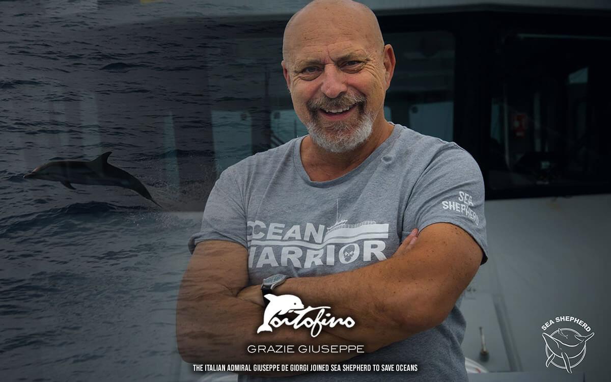 the italian admiral giuseppe de giorgi joined sea shepherd to save oceans