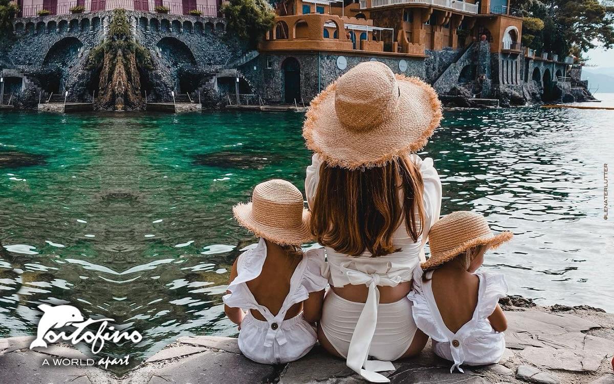 Girls in the Baia Cannone Portofino Italy